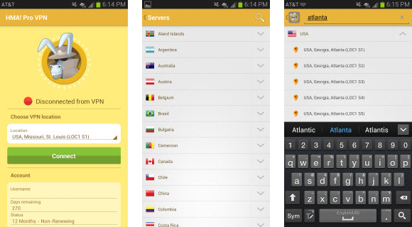 HidemyAss Android App