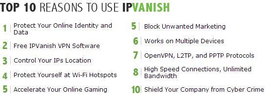 why pick ipvanish, review ipvanish, reasons ipvanish