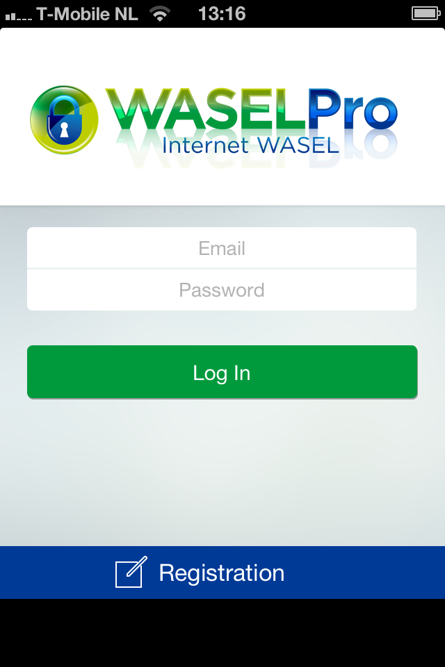 iPhone wasel pro app registration